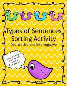 Types of Sentences Sorting Activity Declarative and Interrogative
