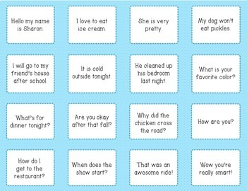 Types of Sentences Sorting Cards