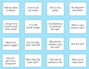 Types of Sentences Literacy Center