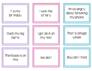 Types of Sentences Sorting Task Cards
