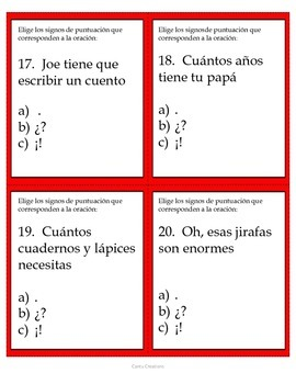Types of Sentences (Spanish) - Tipos de oraciones 1