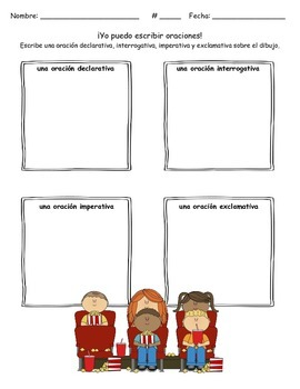 Spanish Types of Sentences - Las oraciones