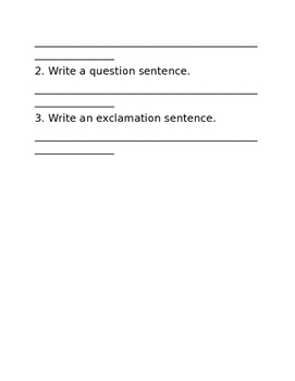 Types of Sentences (Statement, Question, and Exclamation) - Journeys Week 25
