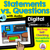 Types of Sentences: Statements vs. Questions Digital Boom Cards