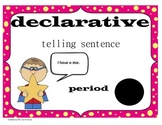 Types of Sentences - Super Kids Theme (matching backgrounds)
