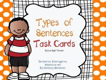 Types of Sentences Task Cards