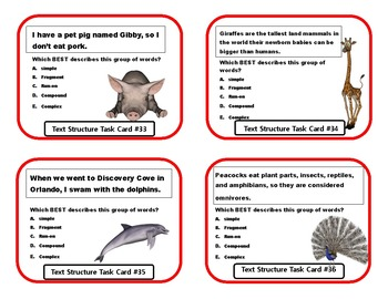 Types of Sentences Task Cards - 44 Cards!!