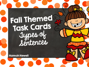 Types of Sentences Task Cards - Fall Themed