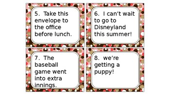 Types of Sentences Task Cards/SCOOT game