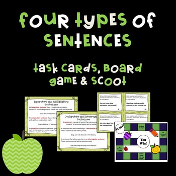 Four Types of Sentences Activities