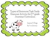 Types of Sentences Task Cards for Journeys Grade 2