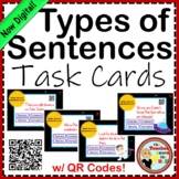 Types of Sentences Task Cards w/ QR Codes