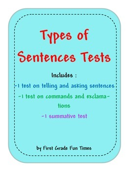 Types of Sentences Tests