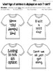 Types of Sentences Tshirt Craftivity: Declarative, Imperative, Interr., Exclam