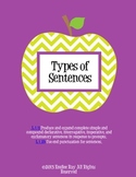 Types of Sentences Unit {Common Core Aligned}