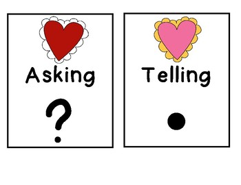 Types of Sentences: Valentine's Day Asking or Telling Sort