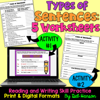 Types of Sentences Worksheets: Declarative, Imperative, Interr., Exclam