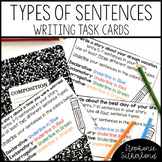 Types of Sentences Writing Task Cards