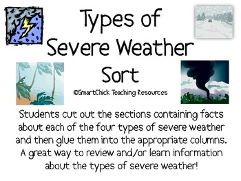 Severe Weather Packets Teaching Resources Teachers Pay Teachers