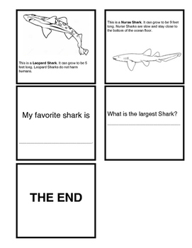 Types of Sharks Booklet