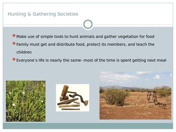 Types of Societies Powerpoint with Guided Notes