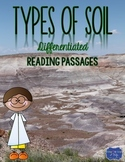 Types of Soils {Differentiated Reading Passages & Questions}