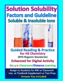 Solubility Factors & Guidelines, Soluble, Insoluble: Essential Skills Wksht #25