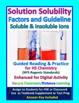 Types of Solutions; Saturated  Unsaturated..- Worksheets &