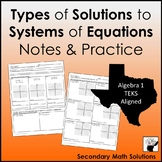 Solutions of Systems of Equations (A3F)