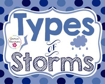 Types of Storms Mini Chart Set