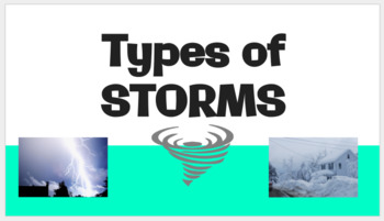 types of storms notes jigsaw activity