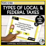 Types of Taxes Personal Financial Literacy | Boom Cards Di