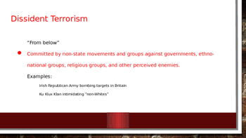 Types of Terrorism Power Point and Notes