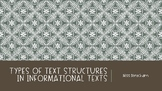 Types of Text Structures in Informational Text
