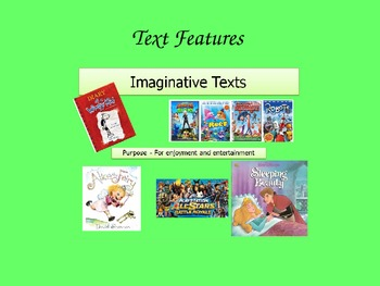 Types of Texts - Imaginative, Informative and Persuasive
