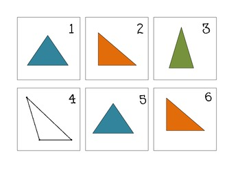 Types of Triangle Calendar Math Pattern