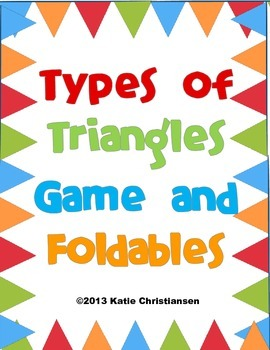 Types of Triangles Activities
