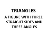 Types of Triangles Anchor Poster