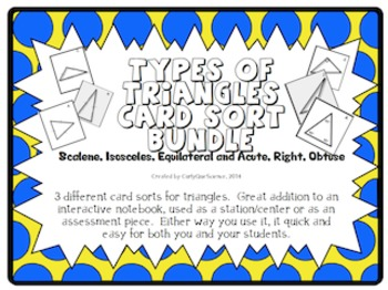 Types of Triangles BUNDLE