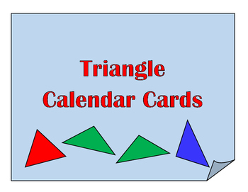 Types of Triangles Calendar Cards