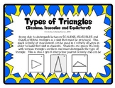 Types of Triangles Card Sort (Scalene, Isosceles, and Equilateral)