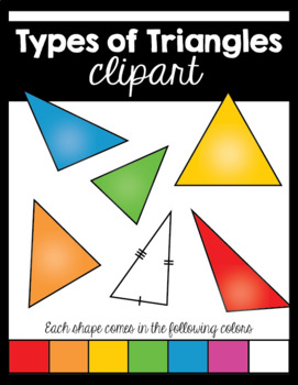 Types of Triangles Clip Art