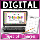 Types of Triangles Digital Task Cards for Google Slides