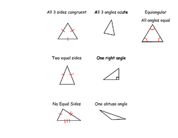 Types of Triangles Foldable