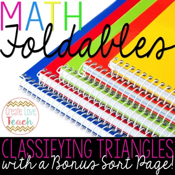 Types of Triangles Foldable and BONUS Sort Activity!