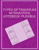 Classifying Triangles Interactive Notebook Flippable