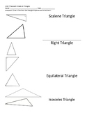 Types of Triangles Matching