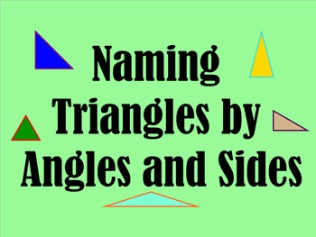 Types of Triangles - Naming Triangles by Angles and Sides