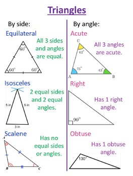 Types Of Triangles Posters & Worksheets | Teachers Pay Teachers