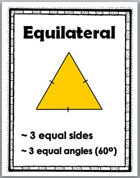 Types of Triangles Geometry Posters and Geometry Activities